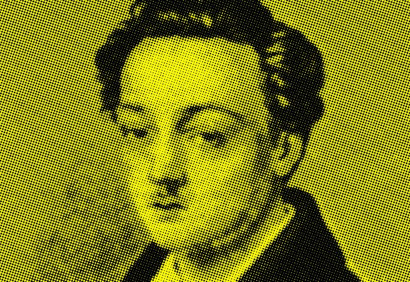 Georg Büchner. Nach einer Zeichnung von Philipp August Joseph Hoffmann, ca. 1835.