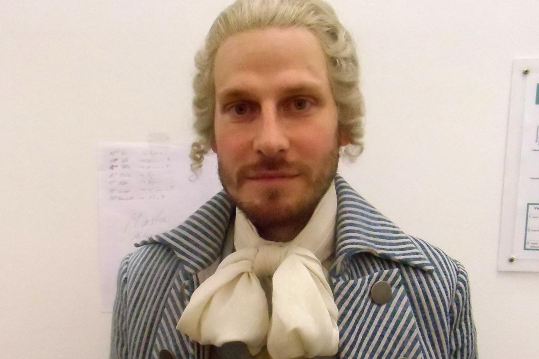 Christoph Gawenda in »Wengenroths Autorenklub, Ausgabe 8: Friedrich Hölderlin«. Foto: Marc Freitag (Ausschnitt).