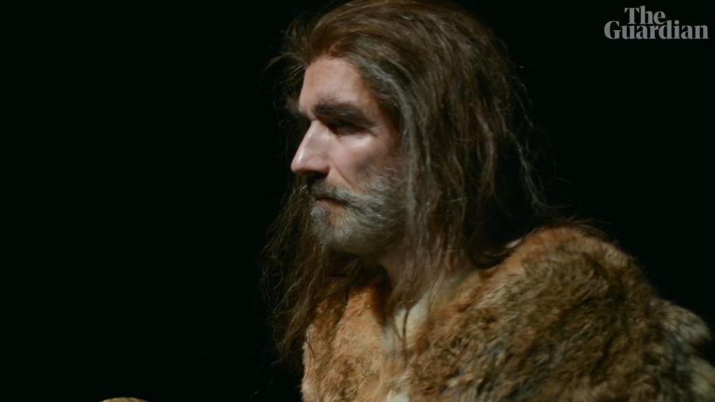 Robert Beyer in »Neanderthal«. Videostill.